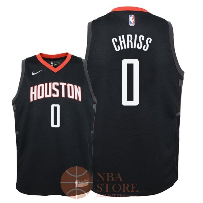 Classic Maillot NBA Enfant Houston Rockets NO.0 Marquese Chriss Noir Statement 2018