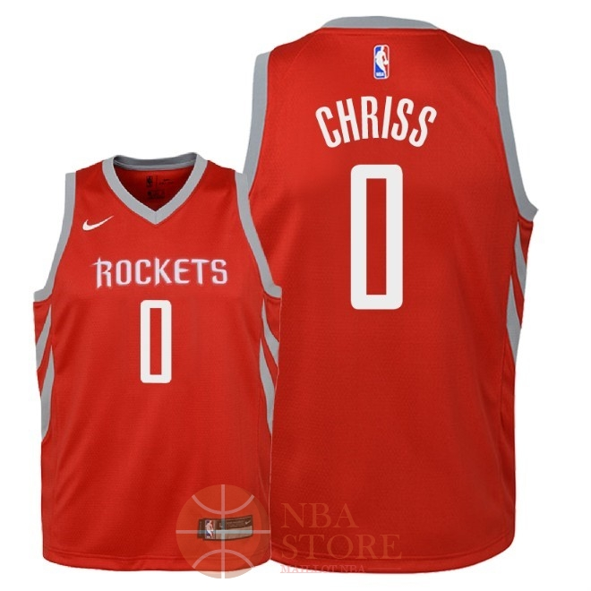 Classic Maillot NBA Enfant Houston Rockets NO.0 Marquese Chriss Rouge Icon 2018