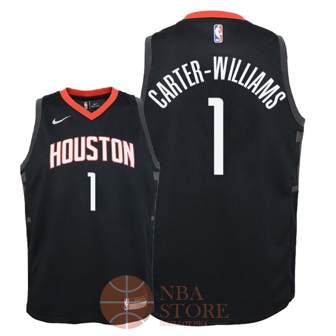 Classic Maillot NBA Enfant Houston Rockets NO.1 Michael Carter Williams Noir Statement 2018