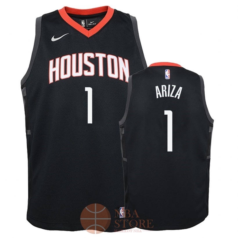 Classic Maillot NBA Enfant Houston Rockets NO.1 Trevor Ariza Noir Statement 2018