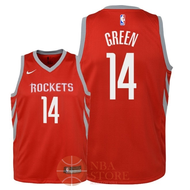 Classic Maillot NBA Enfant Houston Rockets NO.14 Gerald Green Rouge Icon 2018