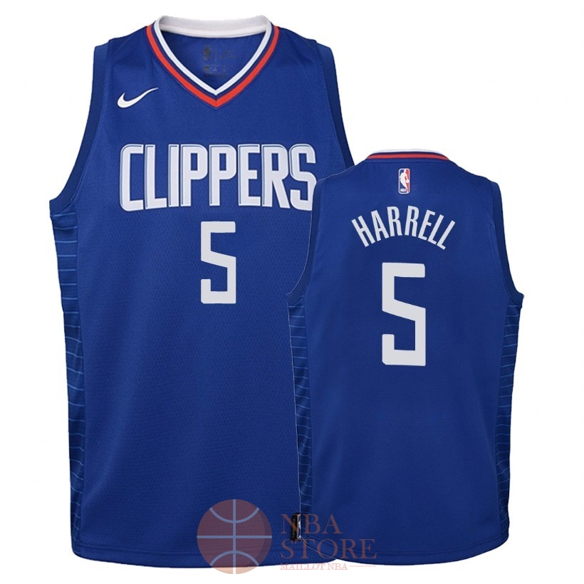 Classic Maillot NBA Enfant Los Angeles Clippers NO.5 Montrezl Harrell Bleu Icon 2018