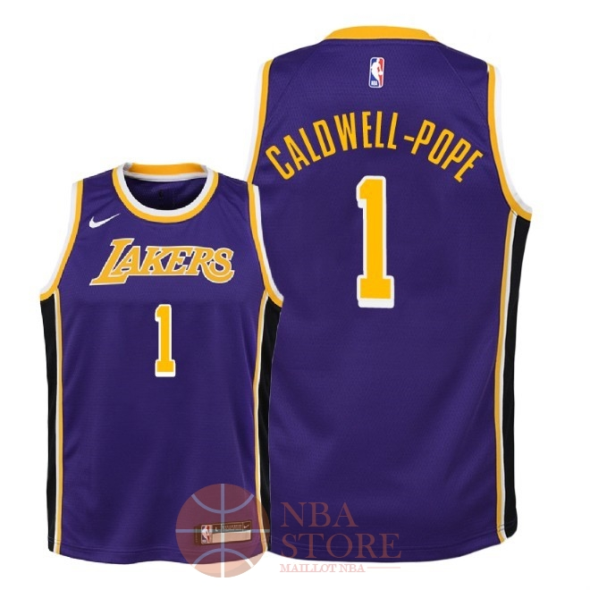 Classic Maillot NBA Enfant Los Angeles Lakers NO.1 Kentavious Caldwell Pope Pourpre Statement 2018-19