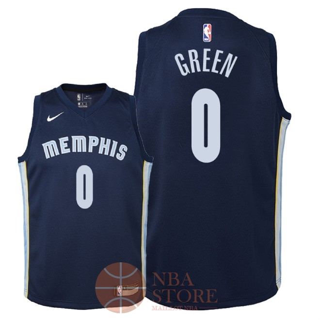 Classic Maillot NBA Enfant Memphis Grizzlies NO.0 JaMychal Green Marine Icon 2018