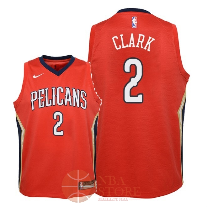 Classic Maillot NBA Enfant New Orleans Pelicans NO.2 Ian Clark Rouge Statement 2018