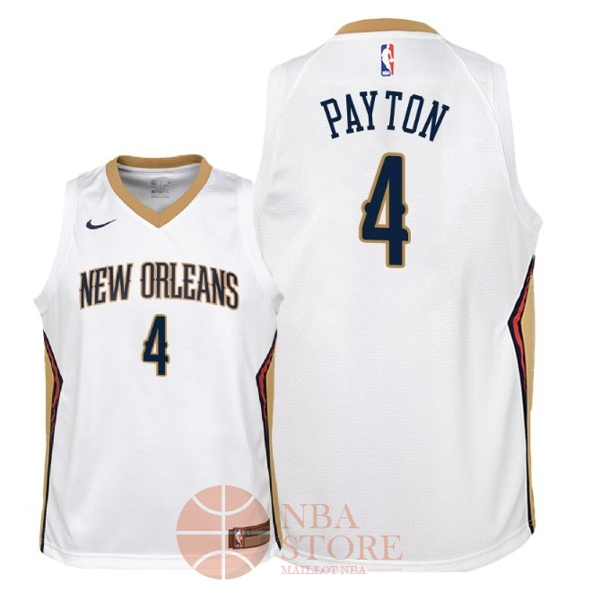 Classic Maillot NBA Enfant New Orleans Pelicans NO.4 Elfrid Payton Blanc Association 2018