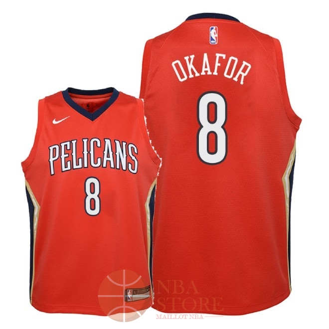Classic Maillot NBA Enfant New Orleans Pelicans NO.8 Jahlil Okafor Rouge Statement 2018