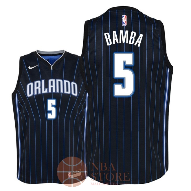 Classic Maillot NBA Enfant Orlando Magic NO.5 Mohamed Bamba Noir Statement 2018