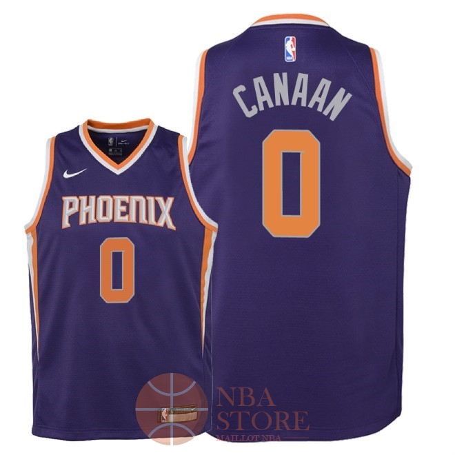 Classic Maillot NBA Enfant Phoenix Suns NO.0 Isaiah Canaan Pourpre Icon 2018