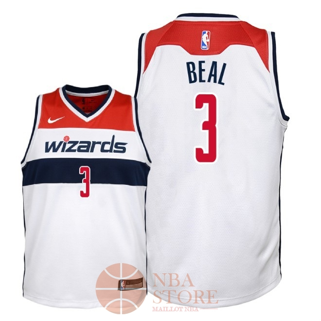 Classic Maillot NBA Enfant Washington Wizards NO.3 Bradley Beal Blanc Association 2018