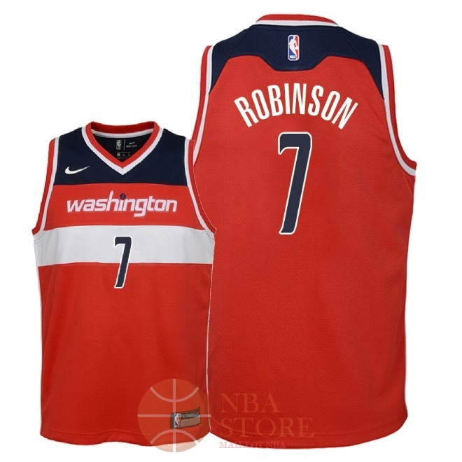 Classic Maillot NBA Enfant Washington Wizards NO.7 Devin Robinson Rouge Icon 2018