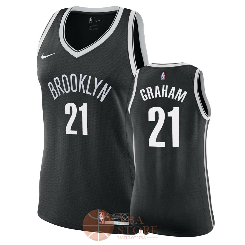 Classic Maillot NBA Femme Brooklyn Nets NO.21 Treveon Graham Noir Icon 2018