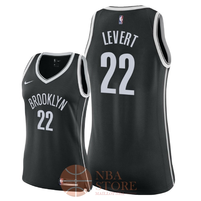 Classic Maillot NBA Femme Brooklyn Nets NO.22 Caris LeVert Noir Icon 2018
