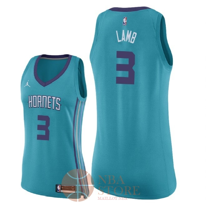 Classic Maillot NBA Femme Charlotte Hornets NO.3 Jeremy Lamb Vert Icon 2018