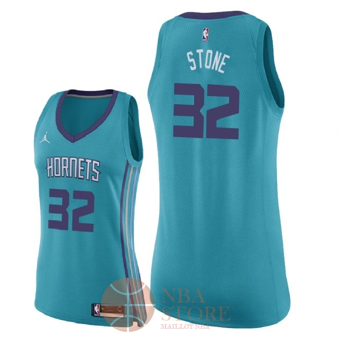 Classic Maillot NBA Femme Charlotte Hornets NO.32 Julyan Stone Vert Icon 2018