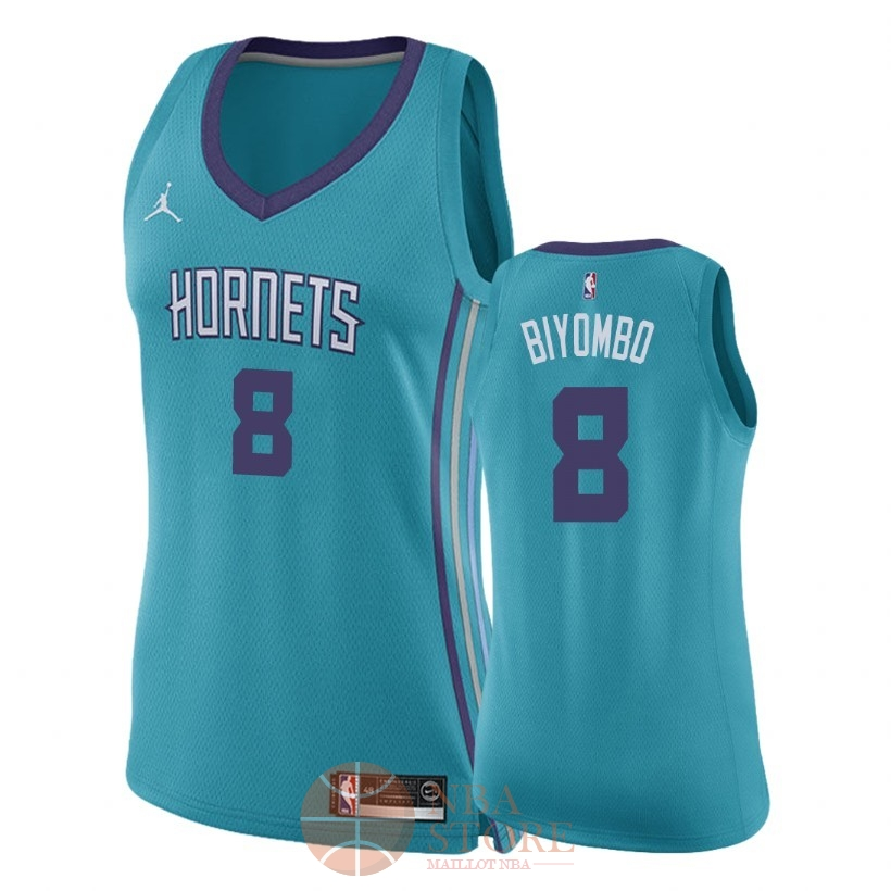 Classic Maillot NBA Femme Charlotte Hornets NO.8 Bismack Biyombo Vert Icon 2018