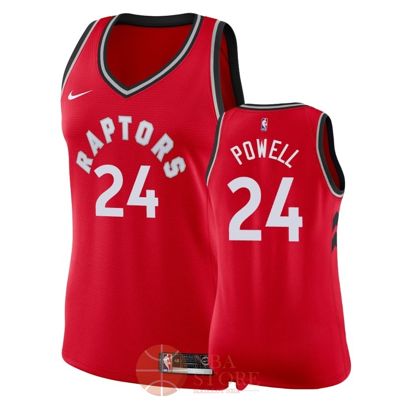 Classic Maillot NBA Femme Toronto Raptors NO.24 Norman Powell Rouge Icon 2018