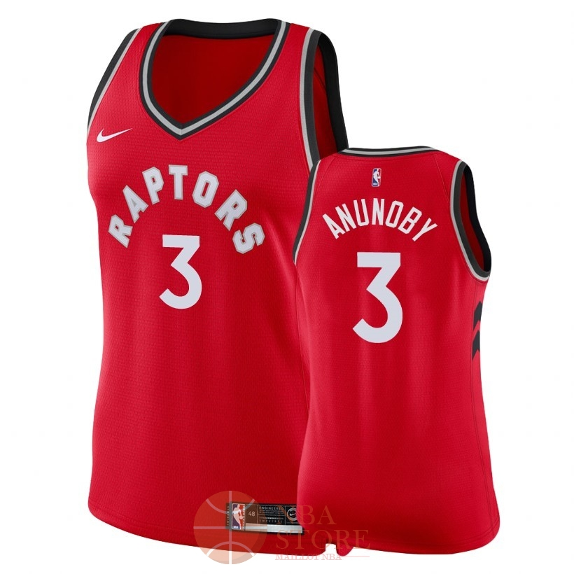 Classic Maillot NBA Femme Toronto Raptors NO.3 OG Anunoby Rouge Icon 2018
