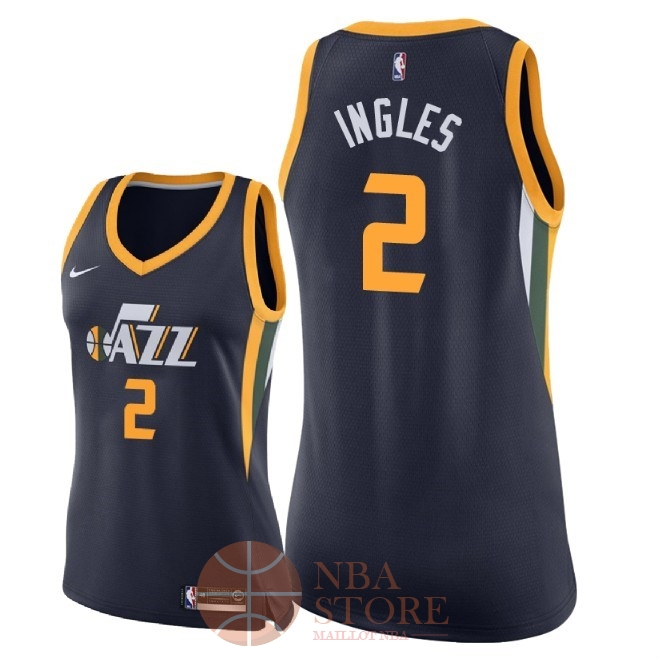Classic Maillot NBA Femme Utah Jazz NO.2 Joe Ingles Marine Icon 2018