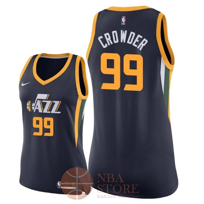 Classic Maillot NBA Femme Utah Jazz NO.99 Jae Crowder Marine Icon 2018