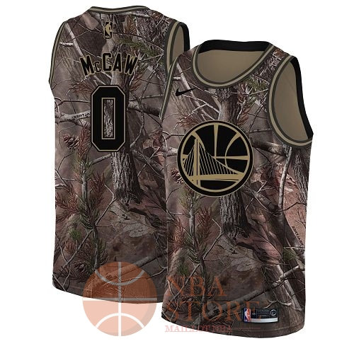 Classic Maillot NBA Golden State Warriors NO.0 Patrick McCaw Camo Swingman Collection Realtree 2018