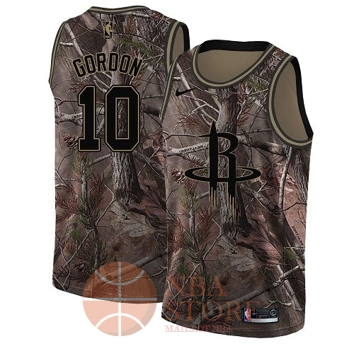 Classic Maillot NBA Houston Rockets NO.10 Eric Gordon Camo Swingman Collection Realtree 2018