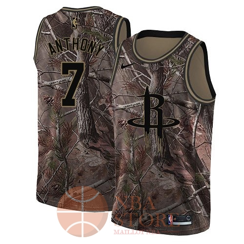 Classic Maillot NBA Houston Rockets NO.7 Carmelo Anthony Camo Swingman Collection Realtree 2018