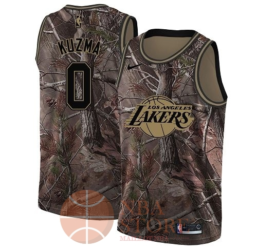 Classic Maillot NBA Los Angeles Lakers NO.0 Kyle Kuzma Camo Swingman Collection Realtree 2018