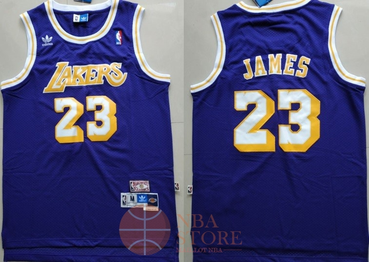 Classic Maillot NBA Los Angeles Lakers NO.23 Lebron James Retro Pourpre