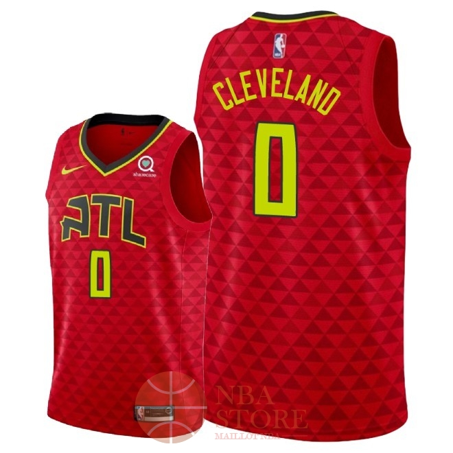 Classic Maillot NBA Nike Atlanta Hawks NO.0 Antonius Cleveland Rouge Statement 2018