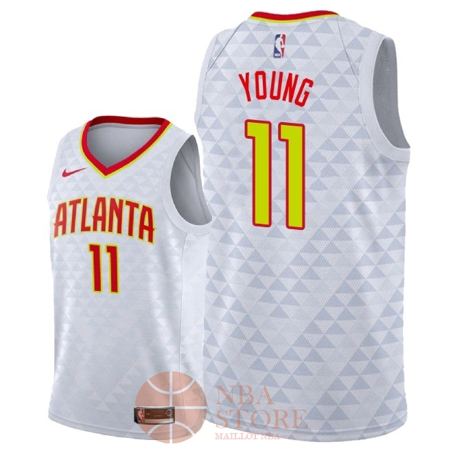 Classic Maillot NBA Nike Atlanta Hawks NO.11 Trae Young Blanc Association 2018-19