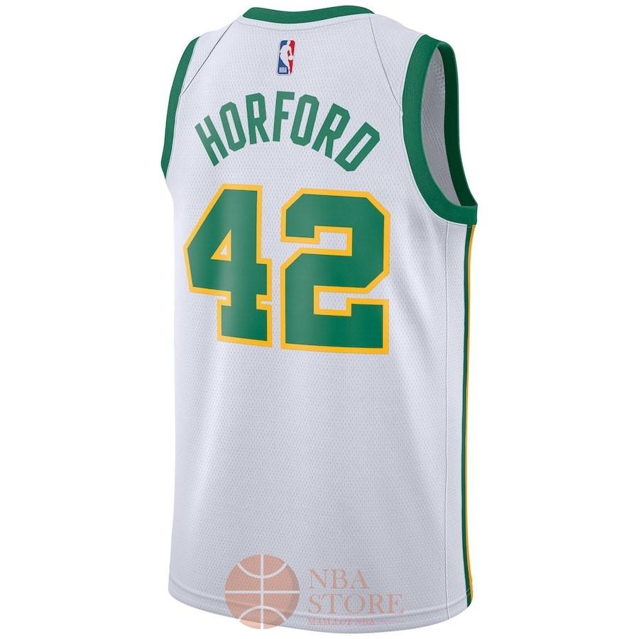 6cdb5f9578d10 ... Classic Maillot NBA Nike Boston Celtics NO.42 Al Horford Nike Blanc Ville  2018- ...