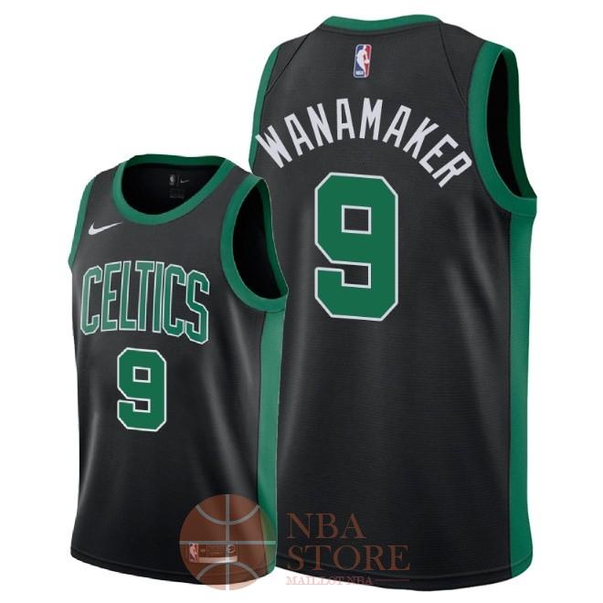 4ad62a5cfc7f3 Classic Maillot NBA Nike Boston Celtics NO.9 Bradley Wanamaker Noir  Statement 2018