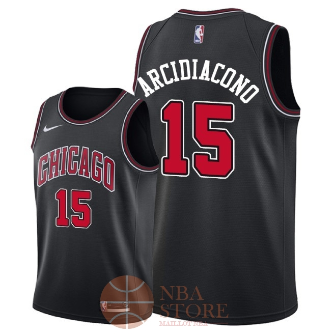 Classic Maillot NBA Nike Chicago Bulls NO.15 Ryan Arcidiacono Noir Statement 2018