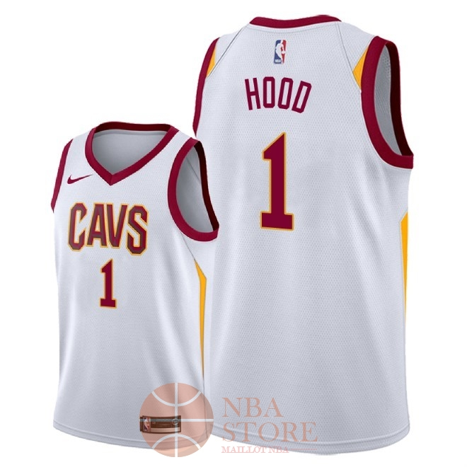 Classic Maillot NBA Nike Cleveland Cavaliers NO.1 Rodney Hood Blanc Association 2018