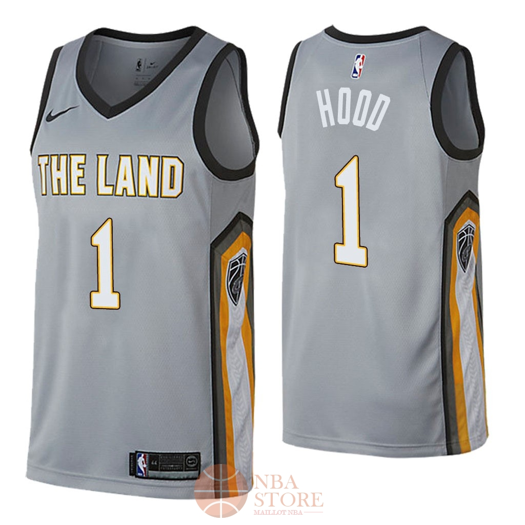 Classic Maillot NBA Nike Cleveland Cavaliers NO.1 Rodney Hood Nike Gris Ville 2018