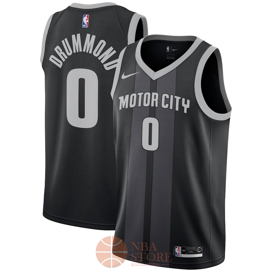 Classic Maillot NBA Nike Detroit Pistons NO.0 Andre Drummond Nike Noir Ville 2018-19