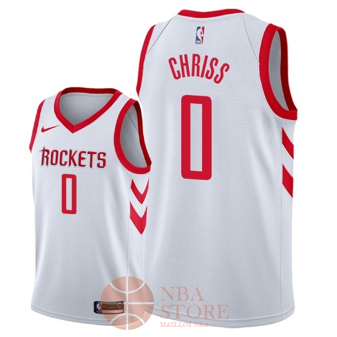 Classic Maillot NBA Nike Houston Rockets NO.0 Marquese Chriss Blanc Association 2018