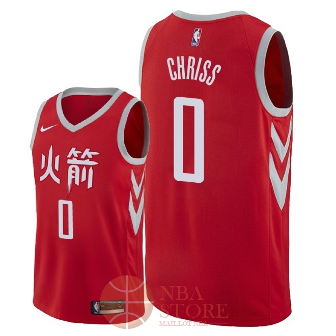 Classic Maillot NBA Nike Houston Rockets NO.0 Marquese Chriss Nike Rouge Ville 2018