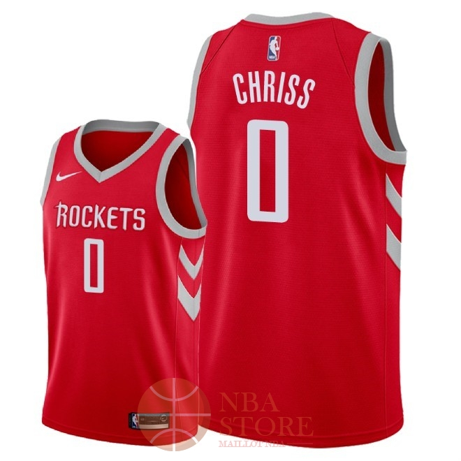 Classic Maillot NBA Nike Houston Rockets NO.0 Marquese Chriss Rouge Icon 2018