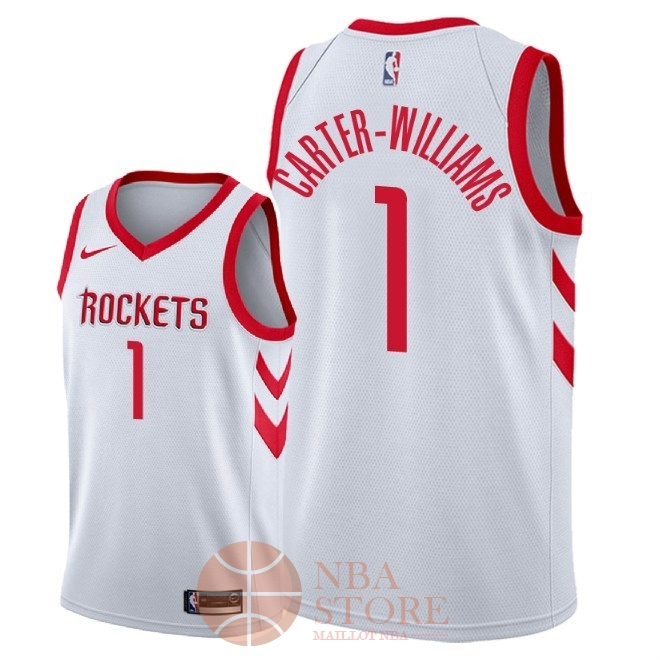 Classic Maillot NBA Nike Houston Rockets NO.1 Michael Carter Williams Blanc Association 2018