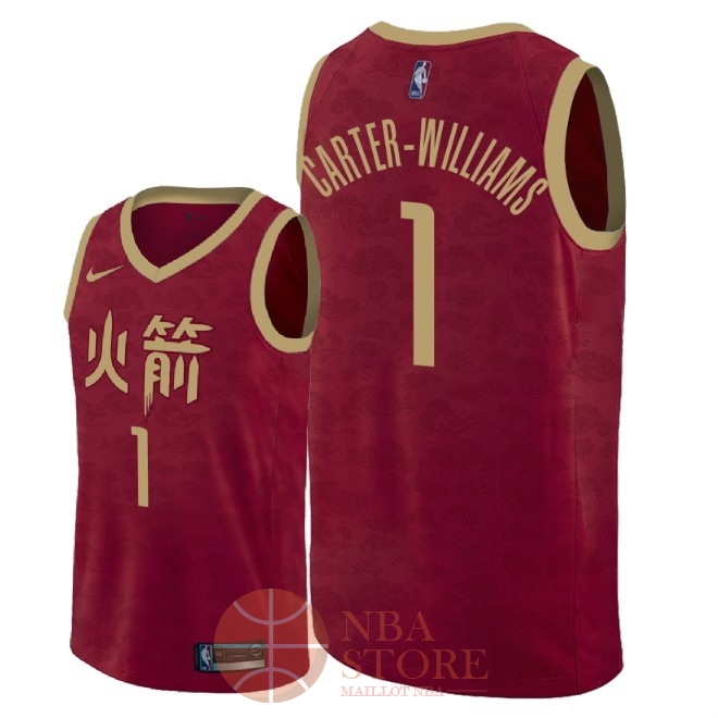 Classic Maillot NBA Nike Houston Rockets NO.1 Michael Carter Williams Nike Rouge Ville 2018-19
