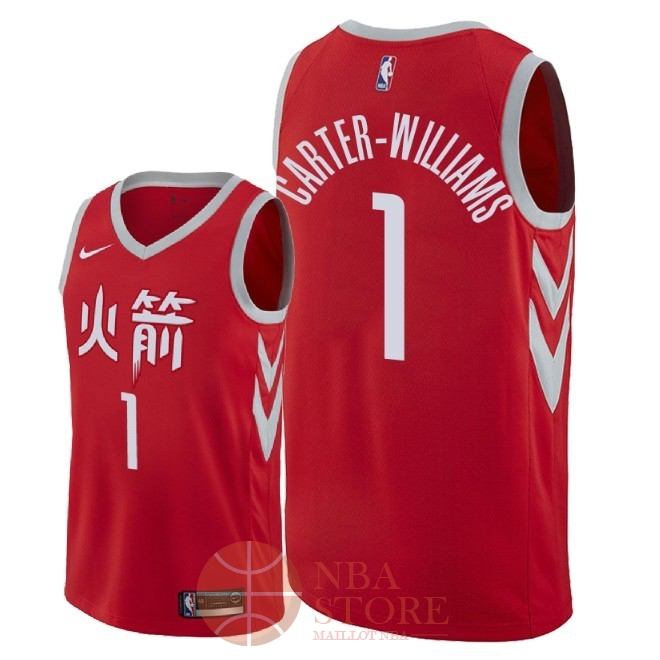 Classic Maillot NBA Nike Houston Rockets NO.1 Michael Carter Williams Nike Rouge Ville 2018