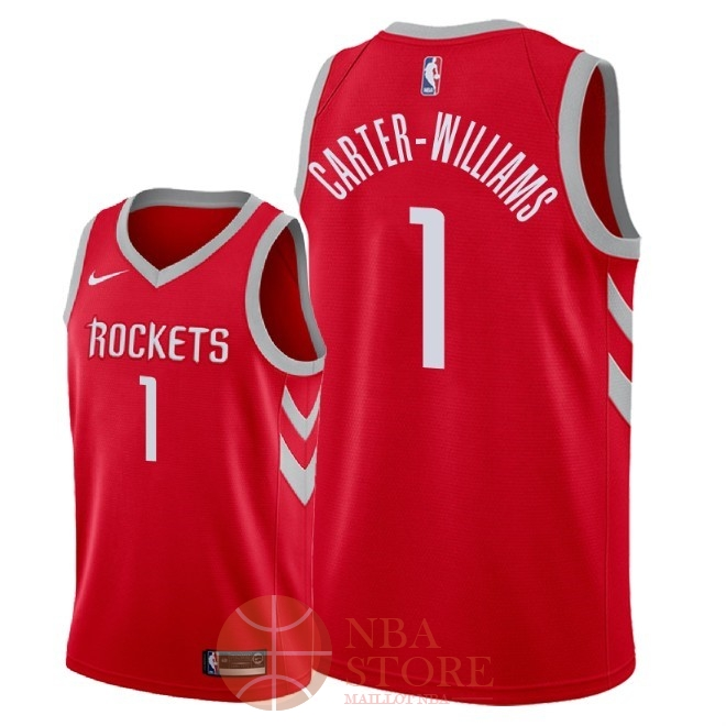 Classic Maillot NBA Nike Houston Rockets NO.1 Michael Carter Williams Rouge Icon 2018