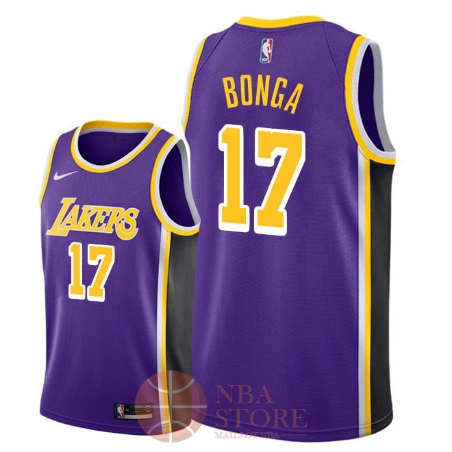 Classic Maillot NBA Nike Los Angeles Lakers NO.17 Isaac Bonga Pourpre Statement 2018-19