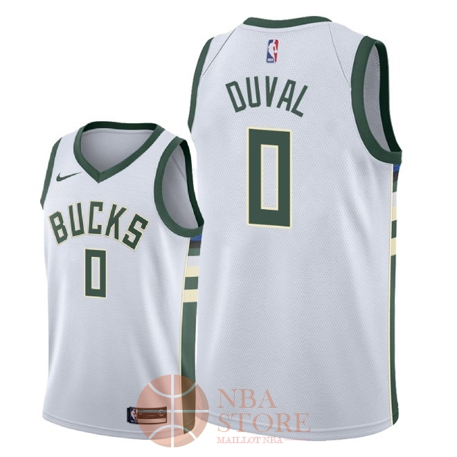 Classic Maillot NBA Nike Milwaukee Bucks NO.0 Trevon Duval Blanc Association 2018
