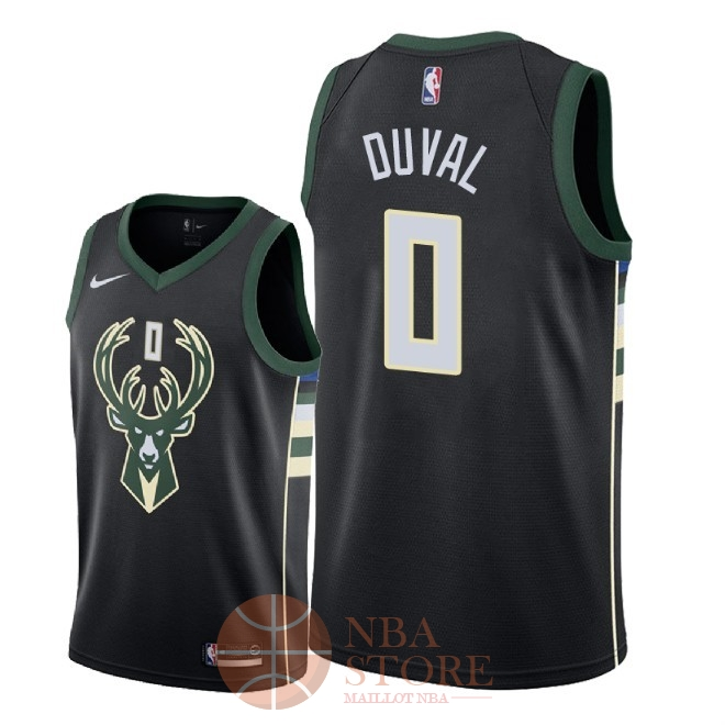 Classic Maillot NBA Nike Milwaukee Bucks NO.0 Trevon Duval Noir Statement 2018