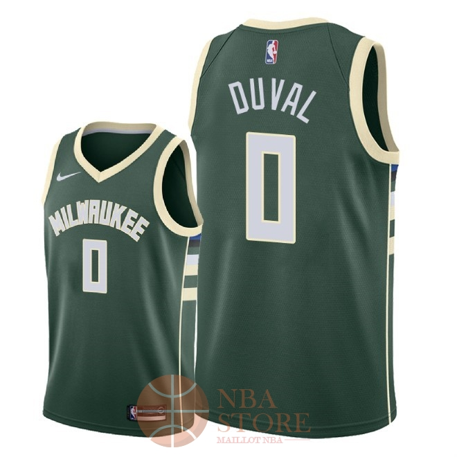Classic Maillot NBA Nike Milwaukee Bucks NO.0 Trevon Duval Vert Icon 2018