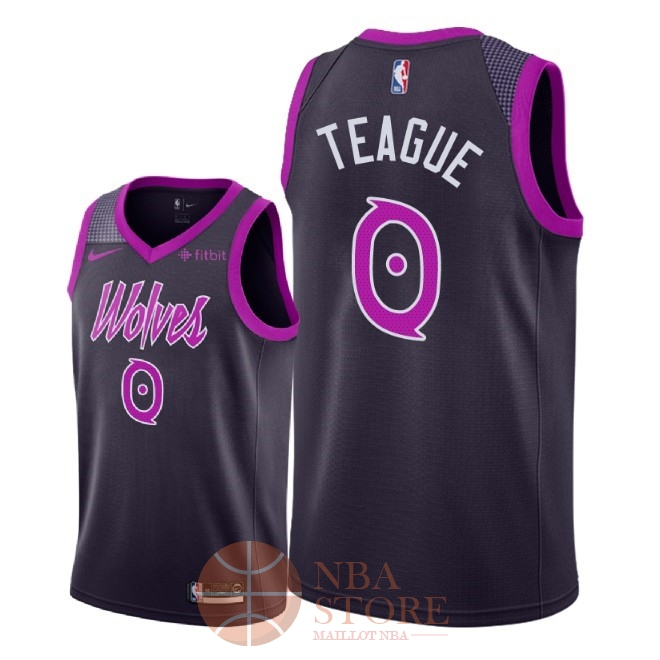 Classic Maillot NBA Nike Minnesota Timberwolves NO.0 Jeff Teague Pourpre Ville 2018-19