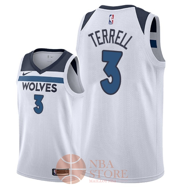 Classic Maillot NBA Nike Minnesota Timberwolves NO.3 Jared Terrell Blanc Association 2018